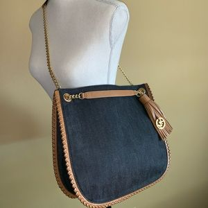 M Kors Chelsea Dark Denim Whip Stitch